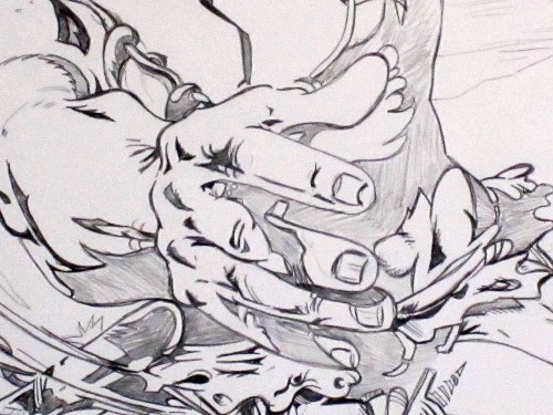 Rahan 3D - André Chéret - Crayonné main