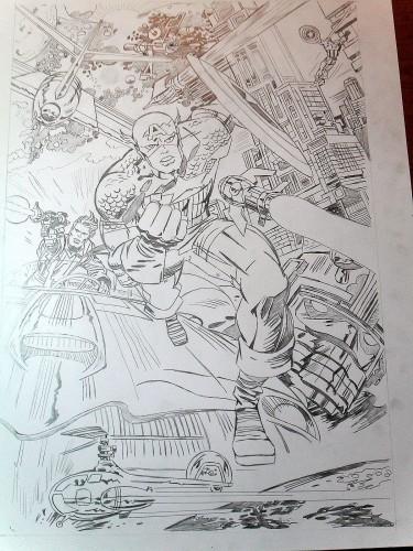 Captain America - Jack Kirby - Crayon entier