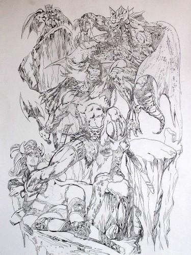 Conan le Barbare - Pablo Marcos - Crayonné 2014