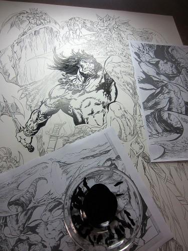 Conan le Barbare - Pablo Marcos - Encrage 2014 - Plan de Travail
