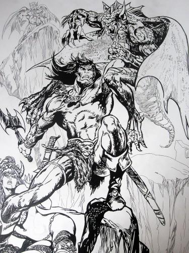 Conan le Barbare - Pablo Marcos - Encrage 2014