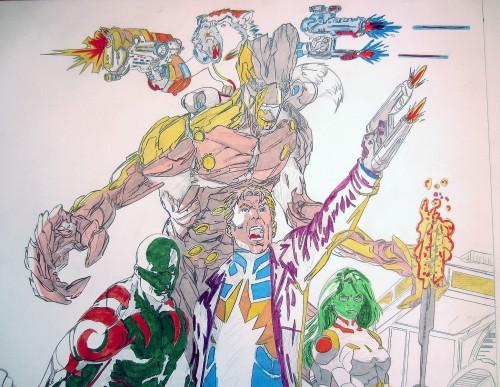 Zoom - Gardiens de la Galaxie - mise en couleurs