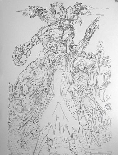 Gardiens de la Galaxie - Briones - crayonné
