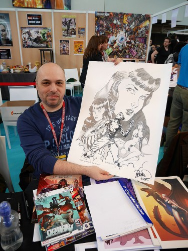 Paul RENAUD et ma repro Rocketeer/Bettie