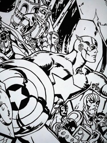 Hommage à Jack Kirby - Alan Davis - Captain America