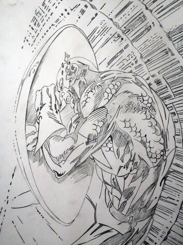 Captain America - Alan Davis - crayonné
