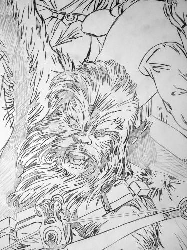 Chewbacca - Alan Davis - crayonné