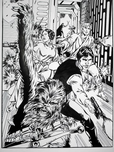 Star Wars 1977 - Alan Davis - encré