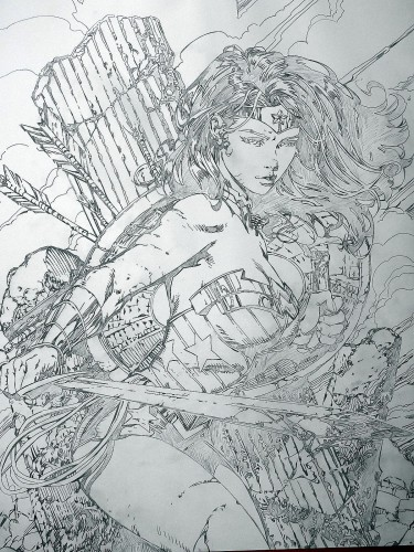 Wonder Woman - crayonné